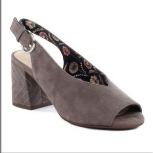 Seychelles Gray Suede Playwright II Slingback